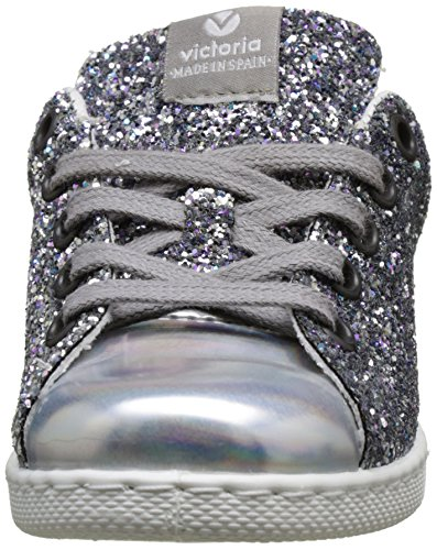 Silver Deportivo Glitter Victoria basse Girl plata Sneakers 0q4cxTO