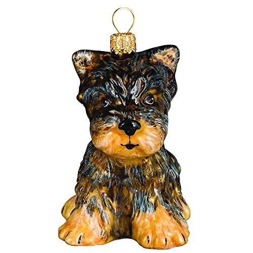 Terrier Glass Ornament - 1