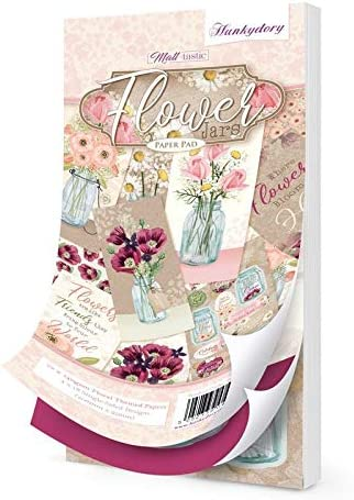 Hunkydory DL Paper Pad Flower Jars 72 Sheets 95x206mm