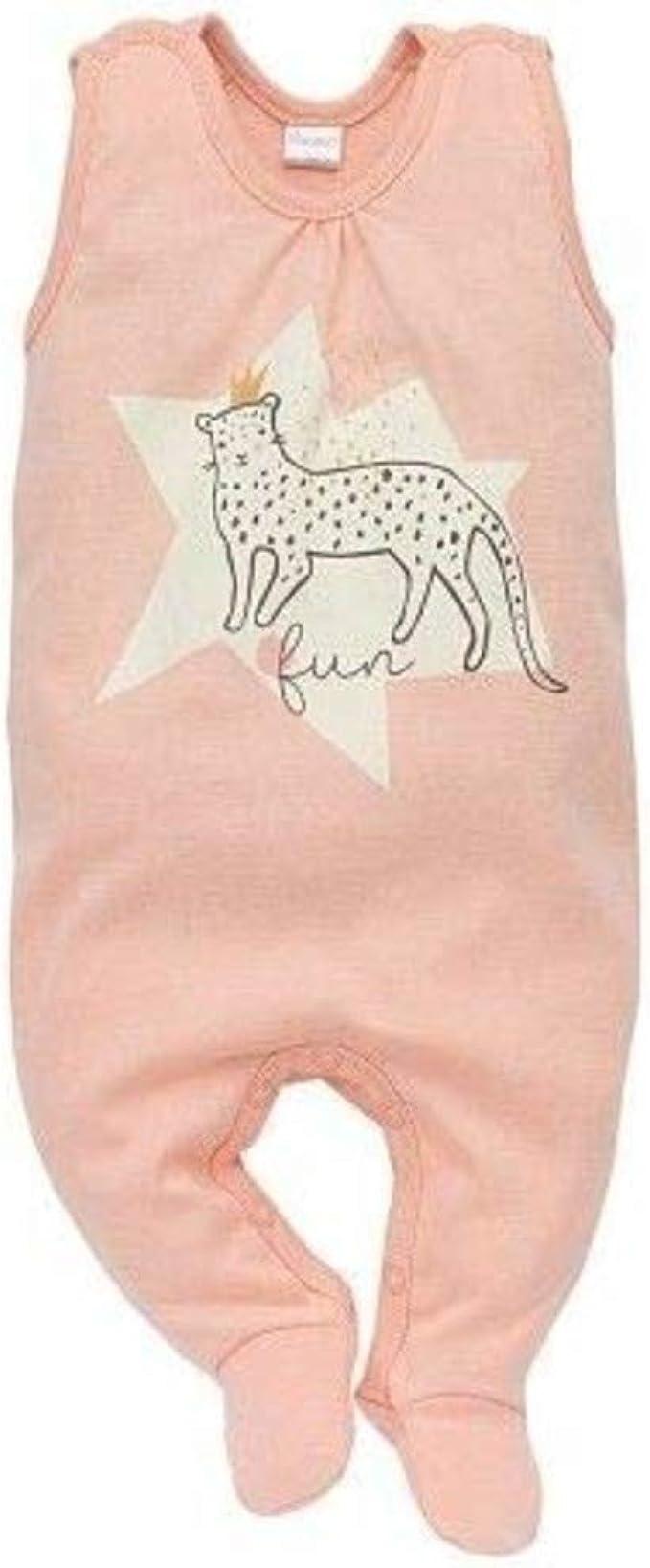 Overall Baby Girls Schlafanzug 100/% Baumwolle Lachs Rosa mit Leopard und Herz Stern- Strampelanzug Schlafstrampler Sweet Panther Pinokio Lang/ärmlig mit Druckkn/öpfen