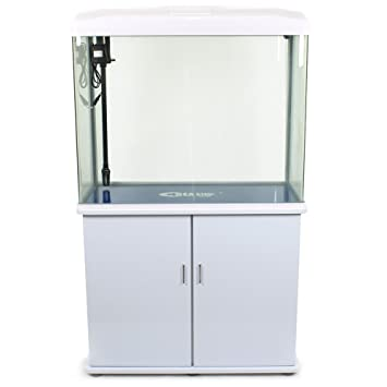 Acuario Completo con Mueble Bomba Filtro Luz LED 160 litros Blanco.: Amazon.es: Productos para mascotas
