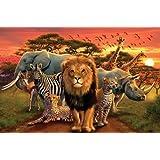 1art1 - Póster de animales de la selva (91 x 60 cm)