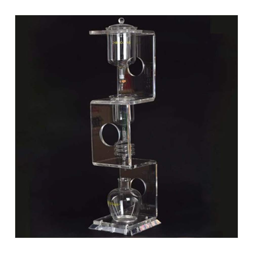Acquisto Fayelong 4C Dripper per caffè/macchina per caffè goccia d'acqua Strumenti per filtri in vetro riutilizzabile Caffettiera per dripper Ice Cold Brew Macchina per caffè 600-700ml Collezione regalo Prezzi offerta