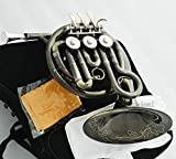 FidgetKute NEW Antique MiNi French Horn Bb 3 Rotary Valves Engraving Bell With Case