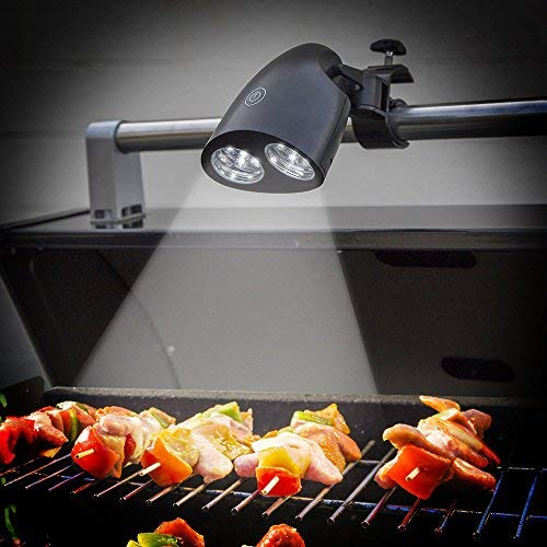 AGPTEK Super LED Handle Bar Mount Fully Adjustable Barbecue Ultra Bright BBQ Grill Light with 10 Supe, 10 LED(New Version), 10 LED(New Version)