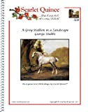 Scarlet Quince STU003lg A Grey Stallion in a Landscape by George Stubbs Counted Cross Stitch Chart, Large Size Symbols