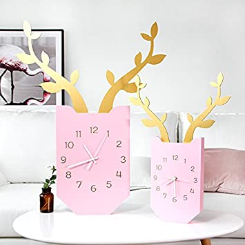 Amazon.com: Wall Clock WERLM Sepia Restaurant bedroom living room ...