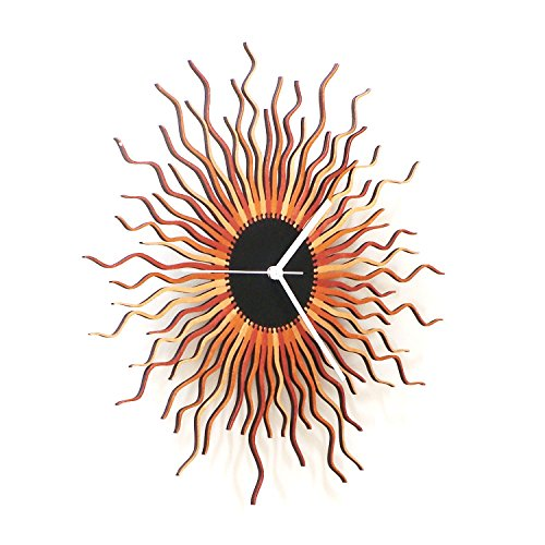 "23 "" Contemporary Sunburst Wall Clock"