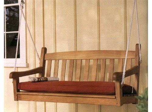 TeakStation Grade-A Teak Wood Outdoor Pation Porch Garden Swing Chair Seat