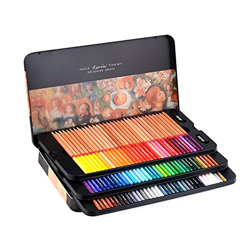 Premier Marco Renior Fine Art Wooden Colored Pencils Set for Sketching/Drawing/Coloring, Soft Core ()