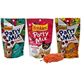 Friskies Party Mix Treats for Cats 3 Flavor Variety Bundle with Catnip Toy, (1) Each: Meow Luau, California Crunch, Morning Munch (2.1 Ounces)