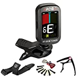 Image of JRZOUR Guitar Pack 5 in 1 Tuner/Strap/Capo/Pin/Pick for Guitar, Chromatic,Bass,Violin & Ukulele