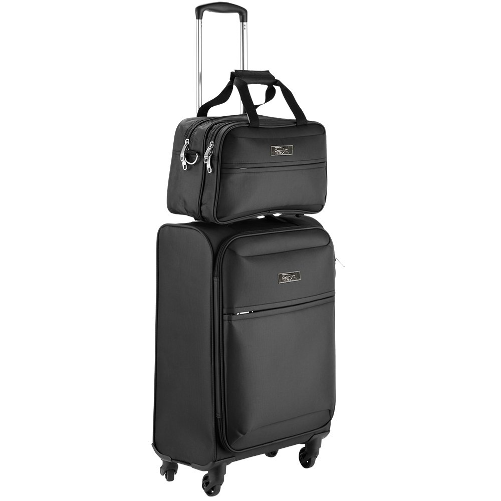 Cabin Max Copenhagen Conjunto de equipaje de mano 50x40x20cm (Negro): Amazon.es: Equipaje