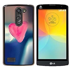 "Be-Star Único Patrón Plástico Duro Fundas Cover Cubre Hard Case Cover Para LG L Prime / L Prime Dual Chip D337 ( Corazón del rosa del caramelo"" )"