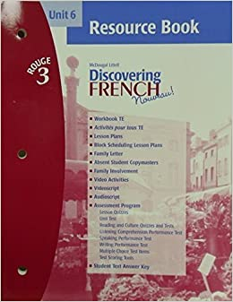 Book Discovering French Nouveau! Rouge 3, Unit 6 (French Edition) by Valette (2000-06-30)