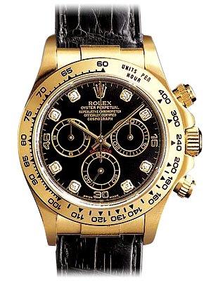 Rolex Daytona Schwarz Gold