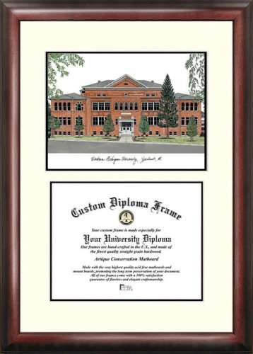 Michigan University Framed Lithograph - Eastern Michigan University Scholar Framed Lithograph with Diploma
