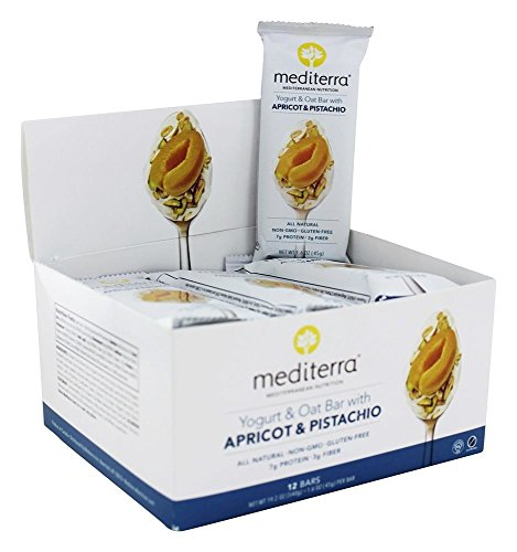 Mediterra Yogurt & Oat Bar with Apricot & Pistachio 12 bars (Apricot Yogurt Bars)