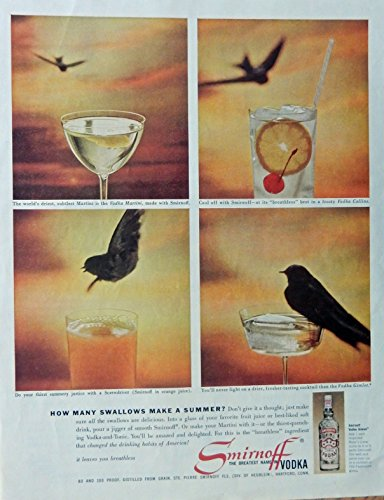 smirnoff-vodka-60s-vintage-print-ad-color-illustration-bird-original-1961-the-saturday-evening-post-