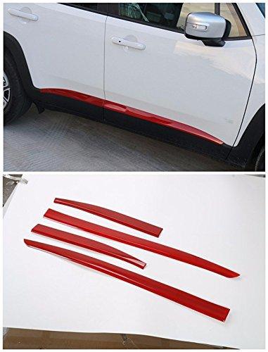 FMtoppeak Red Car Body Door Side Molding Trim Styling ABS...