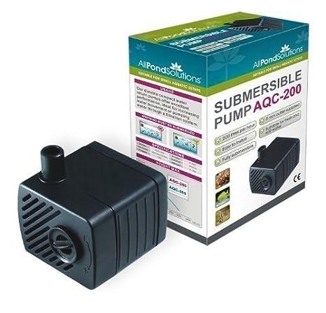 Bomba de Agua Sumergible de Pecera - 200 Litros por Hora: Amazon.es: Productos para mascotas