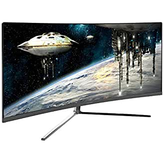 Viotek GN34CB 34″ 21:9 100Hz 1440p Ultrawide Curved QHD Gaming and Professional Computer Monitor
