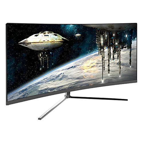(Viotek GN34CB 34-Inch 21:9 Ultrawide Curved QHD Gaming and Professional Computer Monitor, 100Hz 1440p, FreeSync FTS/RTS VESA (Black) )