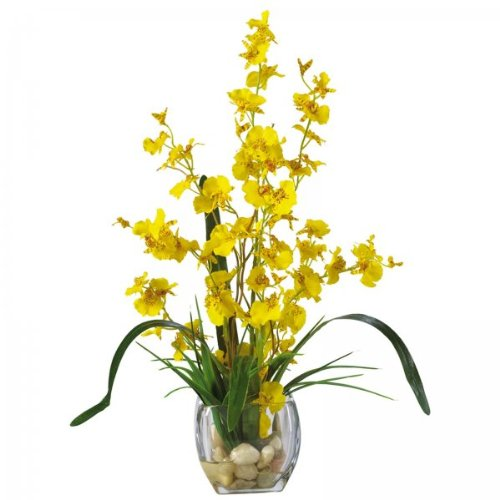 Dancing Lady Orchid Liquid Illusion Flower Arrangement (Yellow) (19