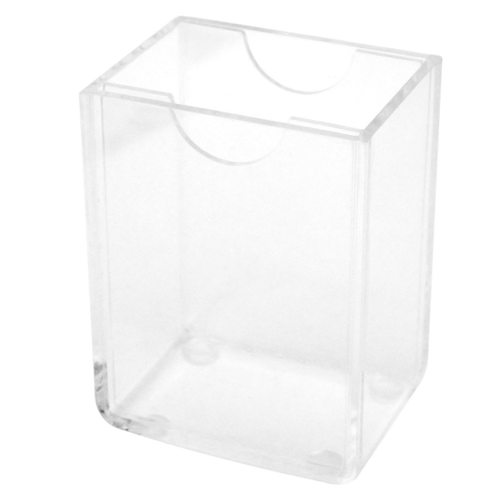 Polaroid Clear Acrylic Photo Storage Box with Easel-Backed Lid For Zink 2x3 Photo Paper (Snap, Zip, Z2300) PL-2X3PSSC