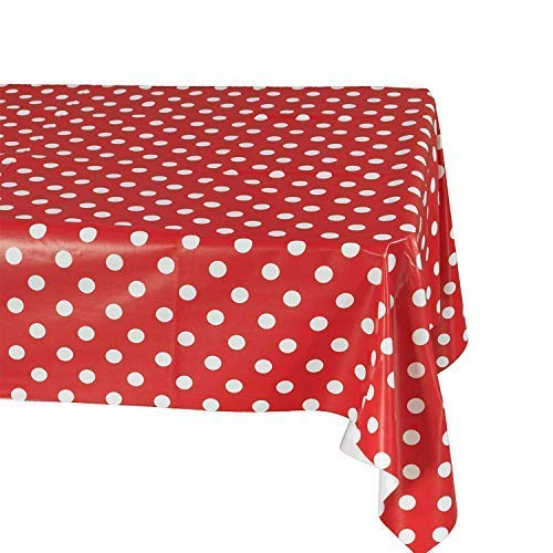 Salsell 3 Pack Polka Dot Tablecloth Polka Dot Plastic Tablecloth, 54