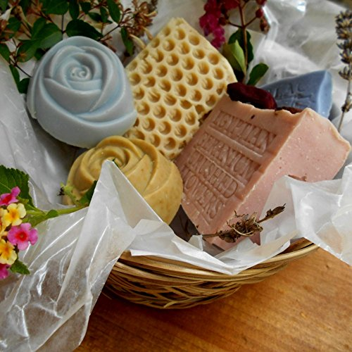 Artisan Soap Gift Basket Five Piece Basket Variety Of Bars And Scents