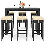 Best Choice Products Wicker Bar Set