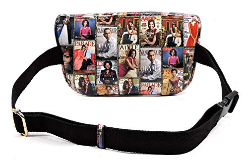 Collage Michelle Body Magazine Bag Glossy Shoulder Q06 multi Satchel Clutch Cover Cross Obama Bag qITqawxS