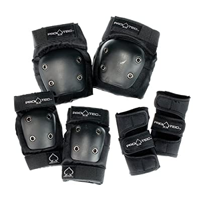 ProTec Street Junior Pads Combo Pack (Knees, Elbows, Wrists) : Skate And Skateboarding Knee Pads : Sports & Outdoors