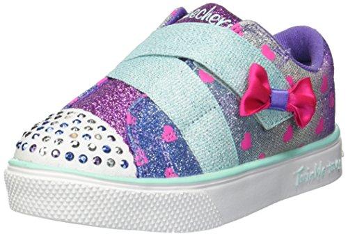Skechers Kids Girls' Twinkle Breeze 2.0-Sparkle-Z Sneaker, Blue/Multi, 8 Medium US -