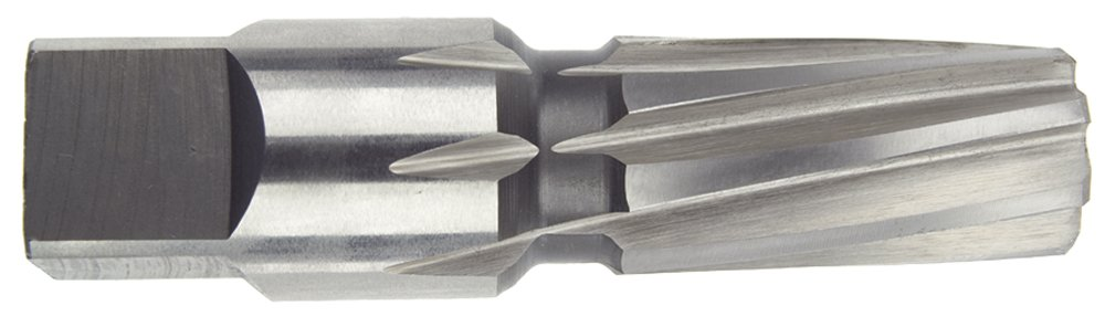 1 Thread Size Morse Cutting Tools 36086 Taper Pipe Reamer High-Speed Steel Bright Finish Left Hand Spiral