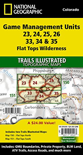 Flat Tops Wilderness GMU [Map Pack Bundle] (National Geographic Trails Illustrated (Flat Tops Wilderness)