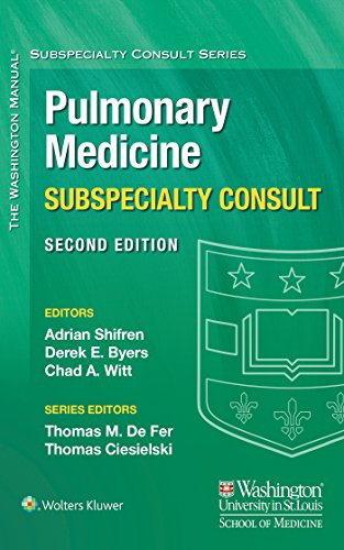 The Washington Manual Pulmonary Medicine Subspecialty Consult (The Washington Manual® Subspecialty  - http://medicalbooks.filipinodoctors.org