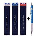 Java Pen 2.0 Mm Drafting Graphite Holder Pencil+Black/red/Blue Leads 3 Tube Set Sale