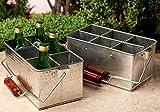 Set of 2 Galvanized Metal Bottle / Utensil Holders by KINDWER