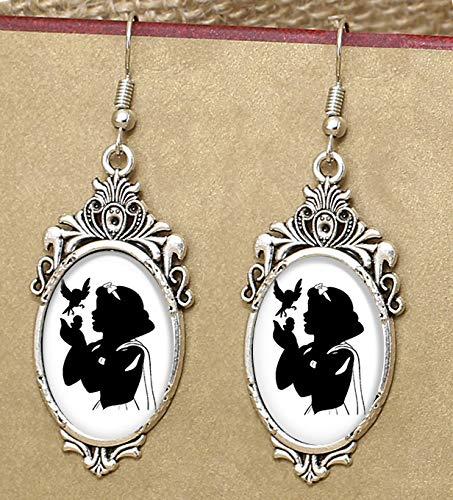 Snow White Silhouette Filgree Earrings