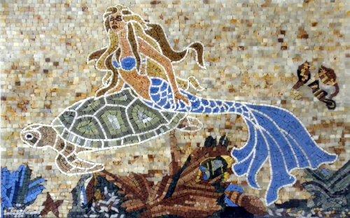 Artistic Mermaid Mosaic | Mosaic Designs | Mosaic Artwork | Mosaic Wall Art By Mozaico | Handmade Mosaics | 35