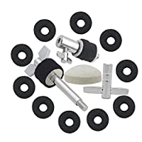 SODIAL High Quality Drum Accessories Hi-Hat Clutch+Key+Step Hammer /Hammer pad +Hanging Screw+Bracts Wool pad Percussion Instruments