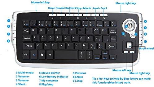 BaZhaHei Mini Teclado táctil inalámbrico de 2.4GHz con Mouse para PC PS4 Smart TV Mini Ratón Inalámbrico Inalámbrico Volando Ratón Ultra Delgado Teclado Wireless Keyboard Wireless Mouse Ratón de Mano: Amazon.es: Ropa