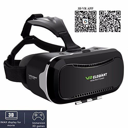 VR Headset,ELEGIANT 3D VR Glasses Virtual Reality Box for 3D Movies Video Games, for iPhone 7 Plus 6 Plus 6s Samsung S7 S6 Edge S5 Note 5 Other 4.0-6.0 Inches Smartphones Photo #6