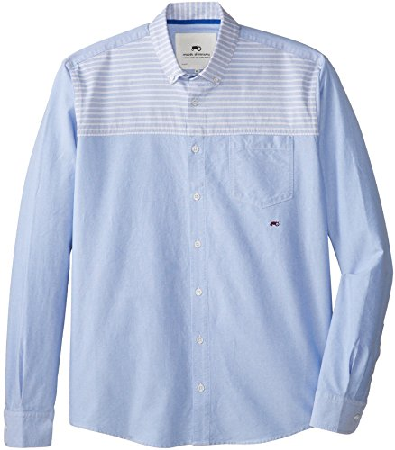 Moods of Norway Men's Anders Vik Woven Shirt, Ice Blue, X-Large