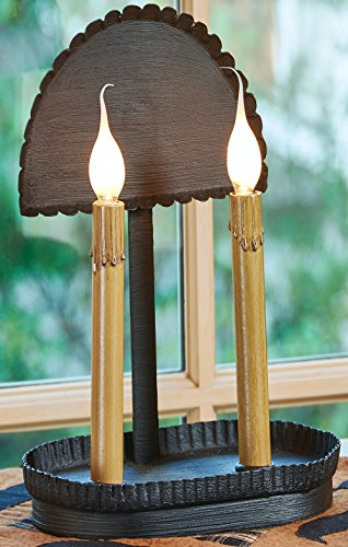 Park Designs Primitive 2 Taper Candle Pan with Reflector for sale  Delivered anywhere in USA