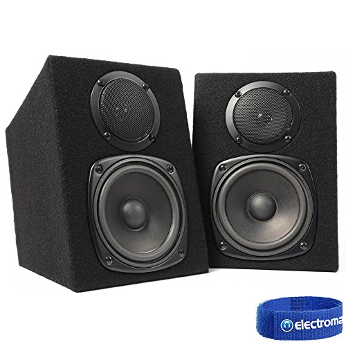 Pair Fenton 2-Way Passive Home DJ MC Studio Monitor Speakers 8 Ohm 2x100W...