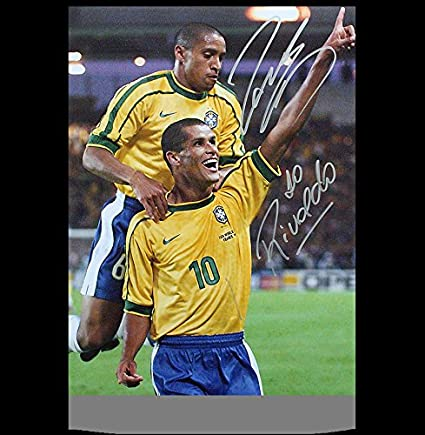 7202e506e Roberto Carlos   Rivaldo Autographed Signed Brazil 12x18 Photo - Certified  Authentic Soccer Signature at Amazon s Sports Collectibles Store