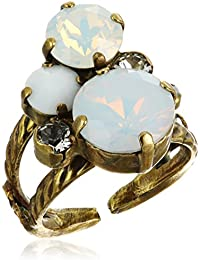 Crystal Assorted Rounds Ring, Size 7-9